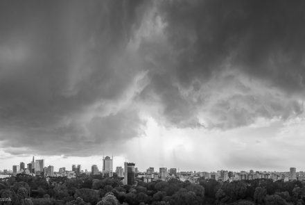 Saigon Storm in Black and White