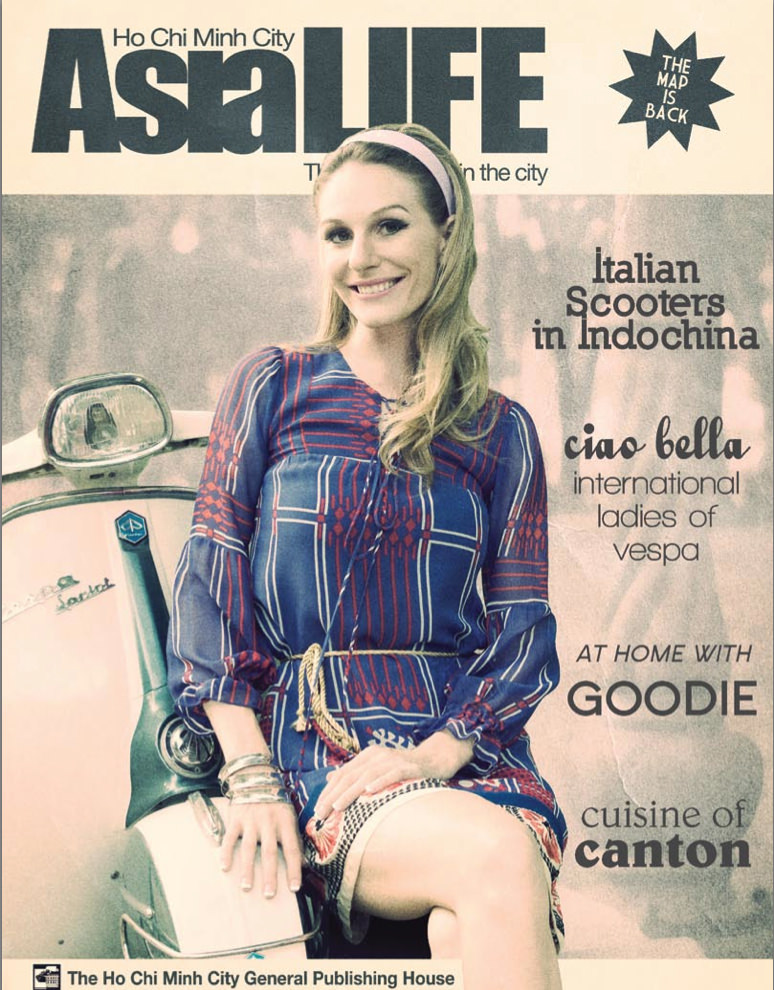Cover of the Asialife magazine issue featuring our Vespa Lambretta calendar shoot